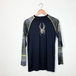 Spyder Rush Guard Black Long Sleeve Size L